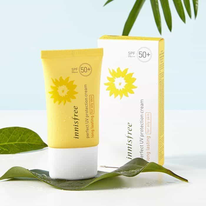 Kem chống nắng vật lý Dành Cho Da Dầu innisFreePerfect uv protection cream long lasting