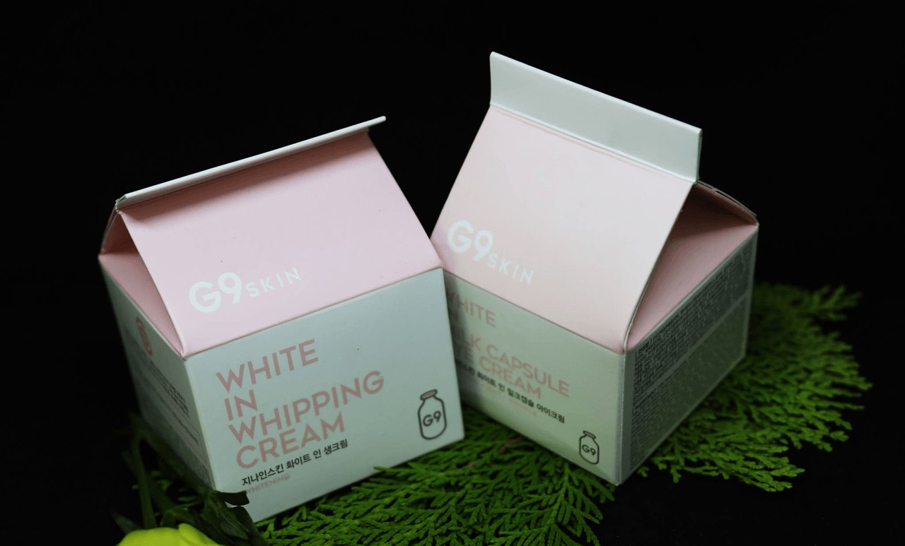 Review G9 Skin White in Whipping Cream