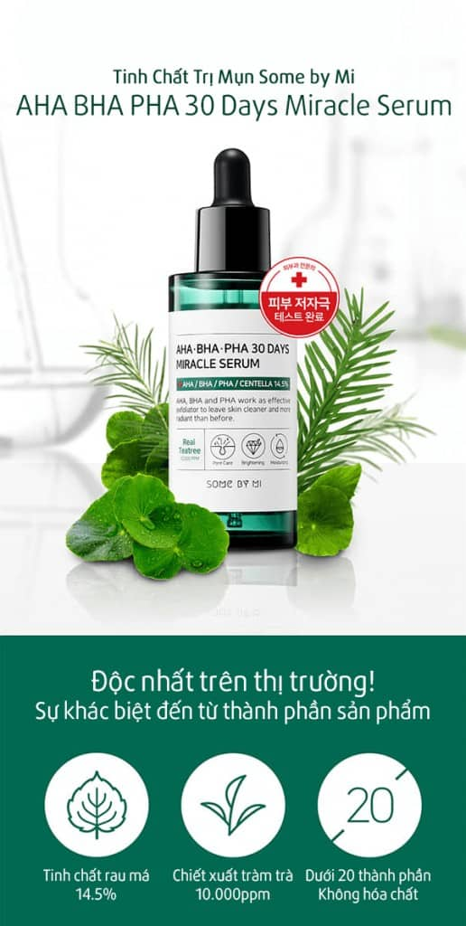 Serum Trị Mụn Some By Mi AHA BHA PHA 30 Days Miracle 6