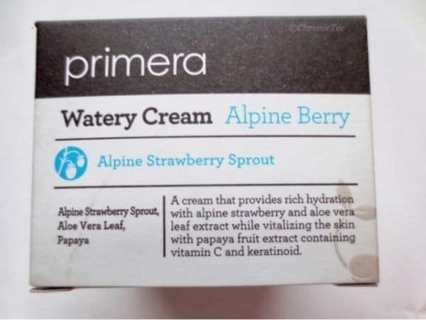Primera Alpine Berry Watery Cream 50ml