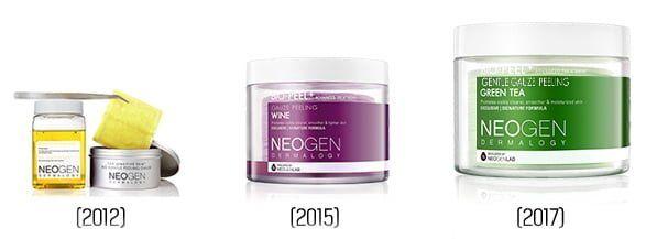 NEOGEN Bio-peel Gentle Gauze Peeling 2012, 2015 and 2017